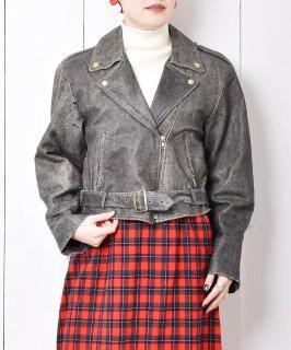 古着90's ダブル ライダースジャケット 古着のネット通販 古着屋グレープフルーツムーン