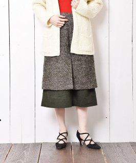 古着レイヤード ツイードスカート 古着のネット通販 古着屋グレープフルーツムーン