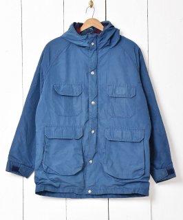 古着アメリカ製「Woolrich」裏地チェック マウンテンパーカー ブルー 古着のネット通販 古着屋グレープフルーツムーン