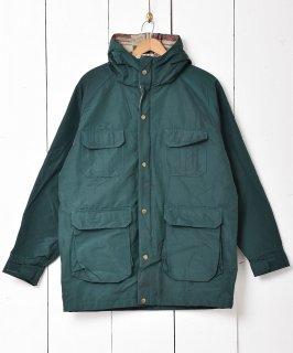 古着アメリカ製「Woolrich」裏地チェック マウンテンパーカー グリーン 古着のネット通販 古着屋グレープフルーツムーン