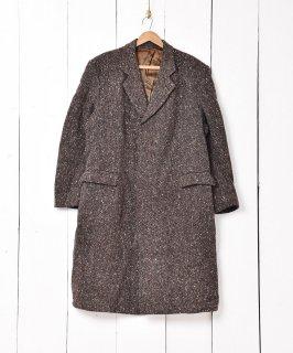 古着イングランド製 ネップ地 チェスターコート ブラウン系 古着のネット通販 古着屋グレープフルーツムーン