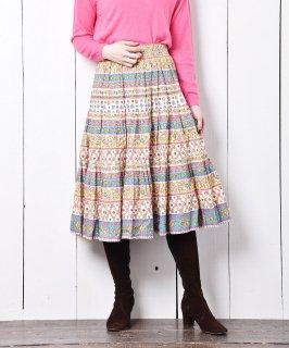古着フランス製 プロヴァンススカート マルチカラー 古着のネット通販 古着屋グレープフルーツムーン