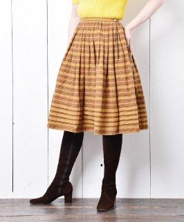 古着チロルスカート ブラウン×オレンジ 古着のネット通販 古着屋グレープフルーツムーン