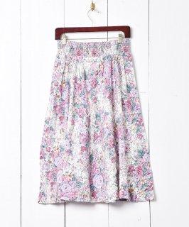 古着アメリカ製 花柄 フレアスカート 古着のネット通販 古着屋グレープフルーツムーン