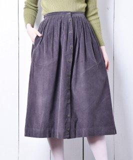 古着アメリカ製 フロントボタン コーデュロイスカート パープル 古着のネット通販 古着屋グレープフルーツムーン