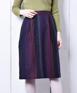 古着カラフルステッチ セミタイトスカート 古着のネット通販 古着屋グレープフルーツムーン