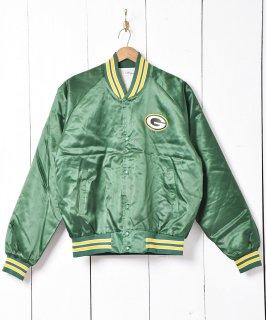 古着アメフト  NFL パッカーズ ナイロンスタジアムジャケット  古着のネット通販 古着屋グレープフルーツムーン