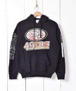 古着アメリカ製 アメフト サンフランシスコ・49ERS プリント スウェットパーカー 古着のネット通販 古着屋グレープフルーツムーン