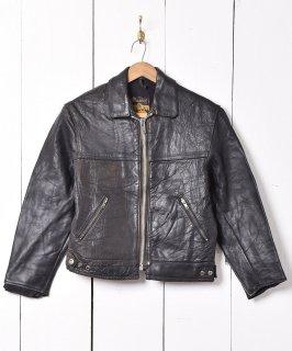 古着60年代「Mascot」シングル ライダースジャケット ブラック 古着のネット通販 古着屋グレープフルーツムーン