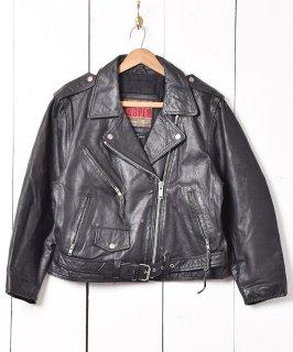 古着「COOPER」ダブルライダースジャケット ブラック 古着のネット通販 古着屋グレープフルーツムーン