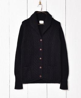 古着アラン編み カーディガン ブラック 古着のネット通販 古着屋グレープフルーツムーン
