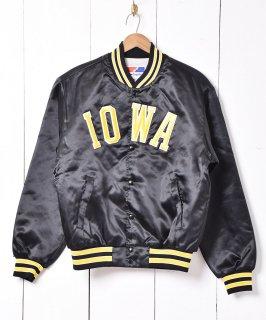 古着アメリカ製「Swingster」IOWA パッチ ナイロン スタジアムジャケット 古着のネット通販 古着屋グレープフルーツムーン