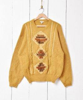 古着イタリア製 レザーパッチ モヘアセーター 古着のネット通販 古着屋グレープフルーツムーン