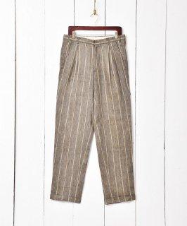 古着ストライプ ツータック スラックス  古着のネット通販 古着屋グレープフルーツムーン