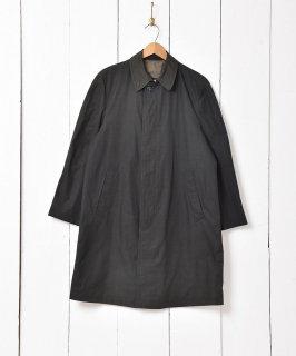 古着「LONDON FOG」チェック柄 ステンカラーコート ダークグリーン 古着のネット通販 古着屋グレープフルーツムーン