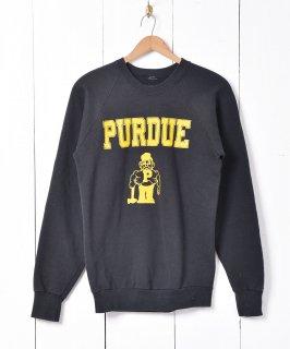 古着パデュー大学 カレッジプリント スウェットシャツ ブラック 古着のネット通販 古着屋グレープフルーツムーン