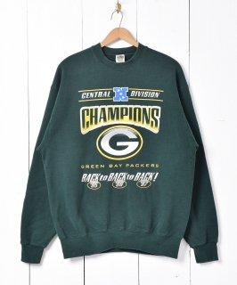 古着アメリカ製 NFL グリーンベイ・パッカーズ チャンピオンズ スウェットシャツ グリーン 古着のネット通販 古着屋グレープフルーツムーン