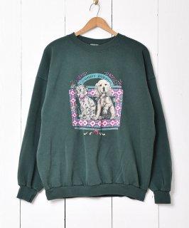 古着アメリカ製 子犬プリントスウェット 古着のネット通販 古着屋グレープフルーツムーン