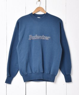 古着アメリカ製 Budweiser 刺繍 ロゴスウェット 古着のネット通販 古着屋グレープフルーツムーン