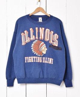 古着アメリカ製 ILLINIOIS カレッジプリントスウェット 古着のネット通販 古着屋グレープフルーツムーン