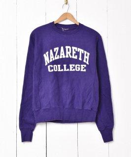 古着ナザレス大学 カレッジプリントスウェット 古着のネット通販 古着屋グレープフルーツムーン