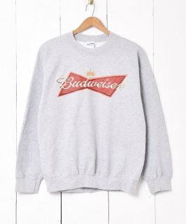古着Budweiser 企業ロゴプリントスウェット グレー系 古着のネット通販 古着屋グレープフルーツムーン