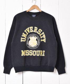 古着アメリカ製 ミズーリ大学 フロッキープリントスウェット 古着のネット通販 古着屋グレープフルーツムーン