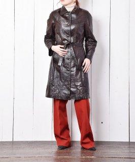 古着レザー シングルコート ブラウン 古着のネット通販 古着屋グレープフルーツムーン
