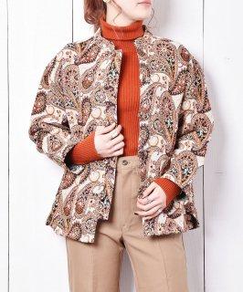 古着Elcamino チャイナボタン ゴブランジャケット 古着のネット通販 古着屋グレープフルーツムーン