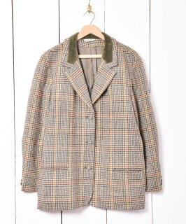 古着イギリス製 「LAURA ASHLEY」グレンチェック テーラードジャケット 古着のネット通販 古着屋グレープフルーツムーン
