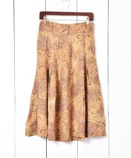 古着イタリア製 総柄プリーツスカート 古着のネット通販 古着屋グレープフルーツムーン