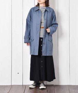 古着「LONDON FOG」比翼仕立て ステンカラーコート ネイビー系 古着のネット通販 古着屋グレープフルーツムーン