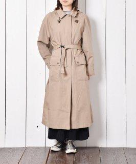 古着フード付き 比翼仕立て ステンカラーコート 古着のネット通販 古着屋グレープフルーツムーン