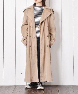 古着ベルト付き ロングトレンチコート ベージュ系  古着のネット通販 古着屋グレープフルーツムーン