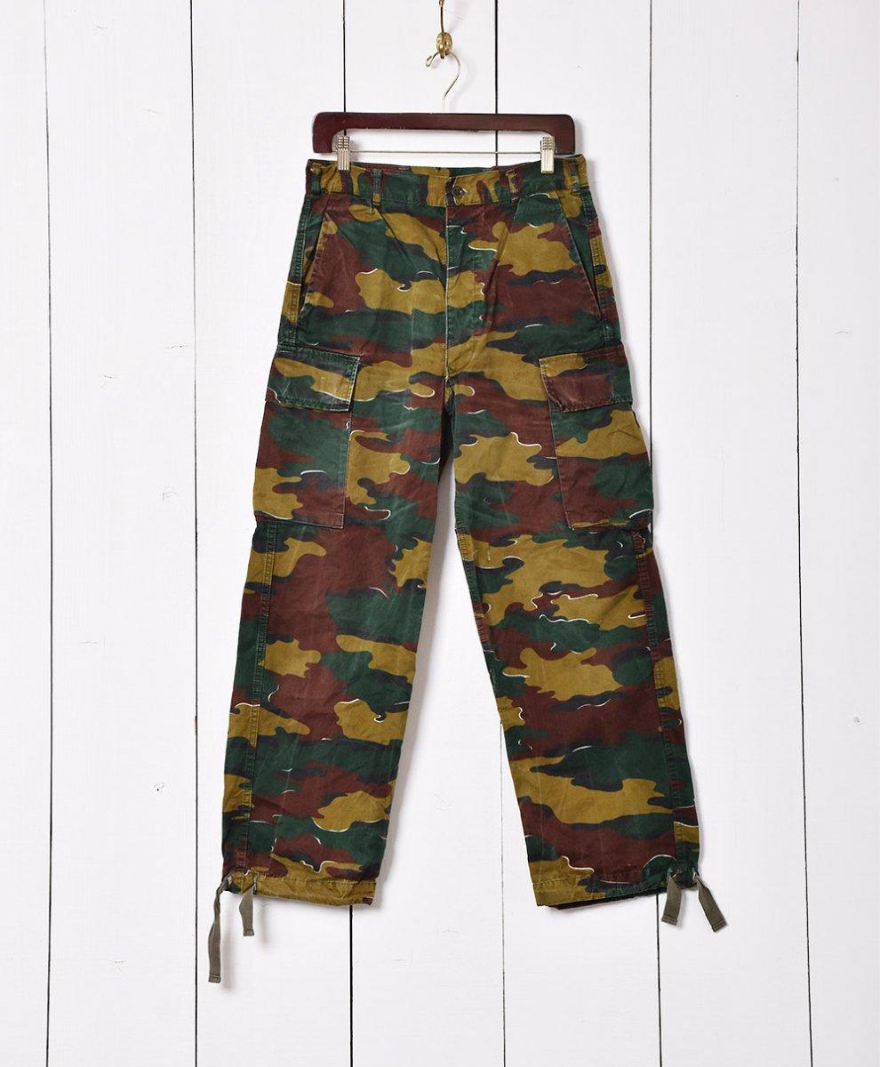 古着 W31 ベルギー軍 ジグソーカモフィールドカーゴパンツ 古着 ネット 通販 古着屋グレープフルーツムーン