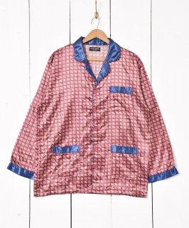 古着ダイヤ 総柄 パジャマシャツ 古着のネット通販 古着屋グレープフルーツムーン