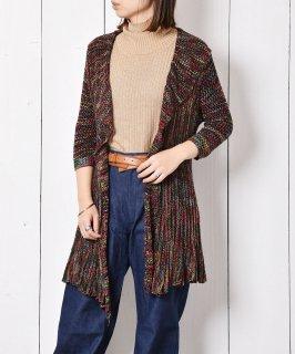 古着透かし編み マルチカラー ニットカーディガン 古着のネット通販 古着屋グレープフルーツムーン