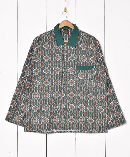古着イギリス製 総柄パジャマシャツ 古着のネット通販 古着屋グレープフルーツムーン