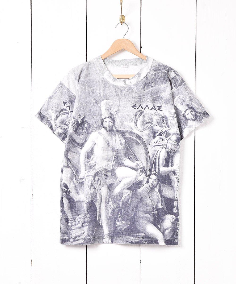 古着 ギリシャ製 転写プリント Tシャツ 古着 ネット 通販 古着屋グレープフルーツムーン
