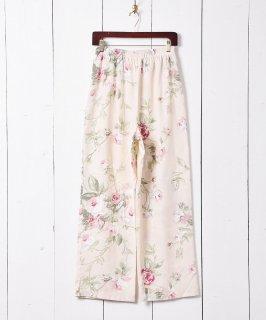 古着アメリカ製 花柄イージーパンツ ベージュ 古着のネット通販 古着屋グレープフルーツムーン