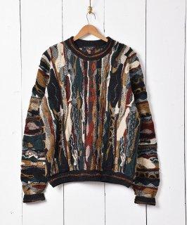 古着アメリカ製 立体編み 3Dニットセーター 古着のネット通販 古着屋グレープフルーツムーン