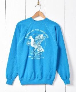古着80年代 アメリカ製 伝書鳩 プリントスウェットシャツ 古着のネット通販 古着屋グレープフルーツムーン