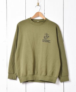 古着アメリカ海兵隊 USMC ミリタリー プリントスウェットシャツ 古着のネット通販 古着屋グレープフルーツムーン