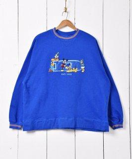 古着「Disney」ミッキーフレンズ 刺繍スウェット 古着のネット通販 古着屋グレープフルーツムーン