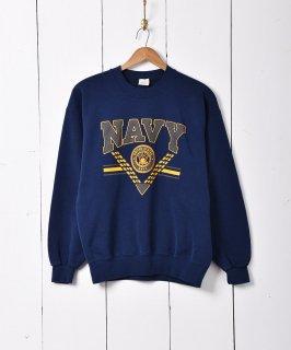 古着U.S.NAVY ロゴプリントスウェット 古着のネット通販 古着屋グレープフルーツムーン