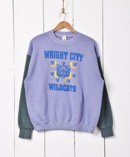 古着WRIGHT CITY WILD CATS カレッジプリントスウェット 古着のネット通販 古着屋グレープフルーツムーン