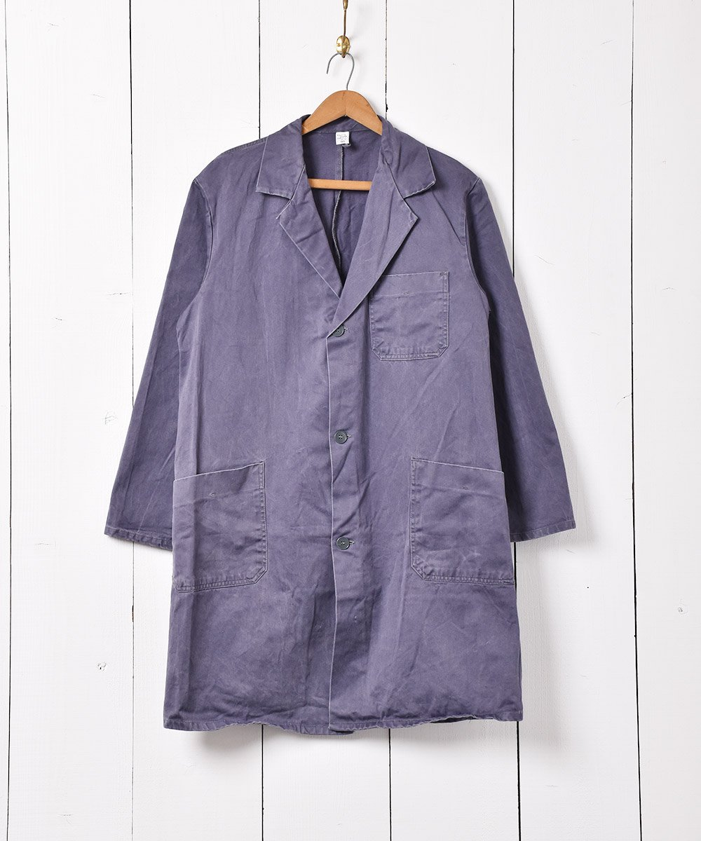 古着 ヨーロッパ製 ワークコート グレー系 古着 ネット 通販 古着屋グレープフルーツムーン