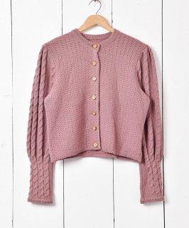 古着ヨーロッパ製 チロルカーディガン ピンク 古着のネット通販 古着屋グレープフルーツムーン