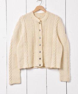 古着ヨーロッパ製 チロルカーディガン アイボリー 古着のネット通販 古着屋グレープフルーツムーン
