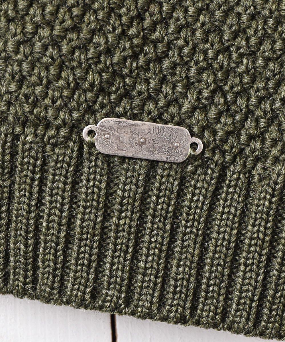 パッチワーク刺繍 チロル カーディガン グリーンサムネイル